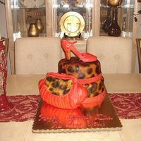 Diva Style 50Th B-Day This was requested by a customer who saw the cake online. We added our own twist to it for her mom's special 50th b-day. The shoe gave...