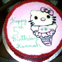 Hello Kitty this is a cake a did for a co-workers dgt's birthday vanilla cake with bc icing