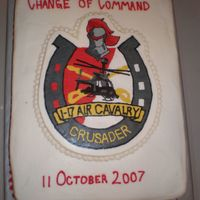 Change Of Command I made this for my husband's Change of Command. I am very proud of this cake... It was my first try at FBCT. Dawn Griffin's FBCT...