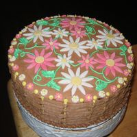 Basketweave Daisy Cake