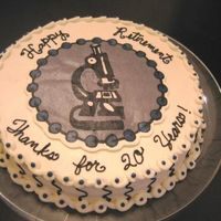 Microscope Transfer Retirement cake for AF medical lab technician...microscope is a BCT.