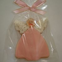 Girl Angel I made this simple cookie for a baptism with MMF.
