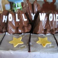 Hollywood Cake My friend wanted a hollywood theme. I made 3 singers but I forgot to take a picture.