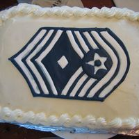 Air Force Cake my dad's boss needed a cake for a promotion.