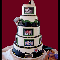 Unusual Personalized Whimsical Wedding Cake