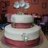Leonwedding.jpg My first paid wedding cake! A fried called and needed a small wedding cake for the next day! Since it is difficult for me to say no to the...