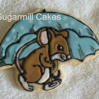 Rainy Day Mouse   Cookie made from Penny's recipe and Antonia's icing. Original mouse picture made by me. I make my own cookie cutter.