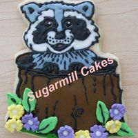 My First Cookie  My first attempt sugar decorated cookie and I'm very pleased with it. Original picture of raccoon was created by me and I use homemade...
