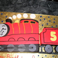James The Train Carved and covered with fondant.