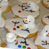 Melting Snowman My take on the melting snowman cookies.