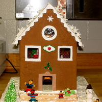 My 1St Gingerbread House   This is the first gingerbread house that I have ever made totally from scratch.