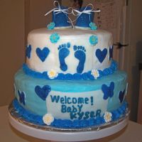 Baby Shower Cake I made this for a friends baby shower at work. Thank You for the many great Ideas from CC.