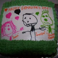 Grandparent's Day Cake My daughter used food writer pens on an icing sheet. Grandpa loved the cake.