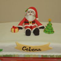 Santa Birthday Cake Birthday cake for a 5-year old girl.