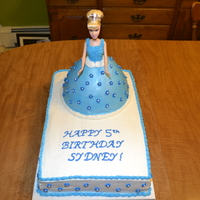 Cinderella Princess Cake I used the Wilton doll cake mold for Cinderella's dress. I put the doll cake on top of a double layer 11x15 sheet cake. Having the...