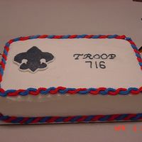 Boy Scout A simple Boy Scout cake for a Court of Honor Celebration.