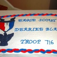 Eagle Scout Cake I made this for an Eagle Scout Ceremony. The medal is made using royal icing. I thinned the royal icing with water. Then I used a small...