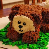 Fscn0843.jpg   Sculpted puppy cake for my granddaughter. All buttercream. It was fun!