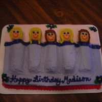 Dscn0912.jpg   Slumber party cake. I used twinkies for the bodies, marshmallows for the pillows and vanilla wafers for the faces. All buttercream.