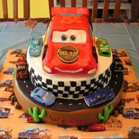 Cars Movie Cake Thanks for all the ideas from fellow CC's for this cake! My son loved it and I learned a lot from doing it. It feels like a made a...