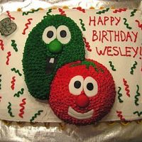 Veggie Tales - Bob & Larry I made this for my son's 3rd birthday party back in April 2006. It turned out ok, definetly needs improvement! He loved it though, so...