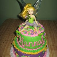 Tinkerbell All buttercream - and the cake was strawberry. It was a massive hit!
