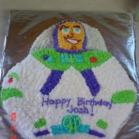 Buzz Lightyear This was the first intricate cake I made for my kids. I have learned a lot since then! LOL