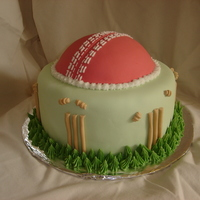 Cricket Cake For a friend that's a bowler.