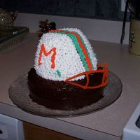 Miami Dolphins 3D Helmet Cake  I made this cake for my sister-in-laws 40th birthday...she loves the Dolphins! This is one of my first cakes. I love all of your cakes, I...