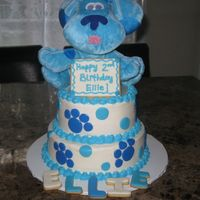 Blue's Clues Made this for my daughter's 2nd birthday party. Iced in buttercream with MMF accents. She loved it!