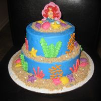 Little Mermaid For a little girls 5th birthday. Fun to make and she loved it!
