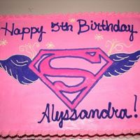Supergirl Cake Supergirl cake for customer with Supergirl theme; all buttercream.