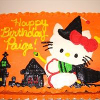 Hello Kitty Halloween Birthday Cake Hello Kitty cake made to copy a Halloween Hello Kitty invitation. For a Halloween Birthday.