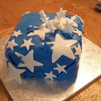 Starry Cake This was a donation for a friend. Love this cake!
