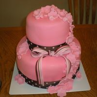 Pink Wedding Cake For my sister.
