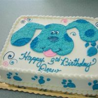 The Blue Dog My signature chocolate cake w/ BC icing
