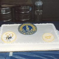 Retirement From The Seabees Royal icing colorflow did for my dad's retirement.