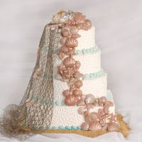 Seashells By Sea Shore More wedding show cakes, chocolate sea shells
