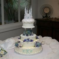 The Princess Wedding This was a cake I did for a friend, and the back had chocolate dipped strawberries for the bride.