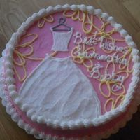 Bridal Shower Cake   I used DianaMarieMTV 's cake as inspiration but it did not turn out as lovely as hers. Thanks for looking.