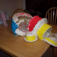 Carter's Disaster One word explains why this disaster happened - Funfetti. Live and learn. Luckily, I was able to fix it by just making it a two tiered cake...