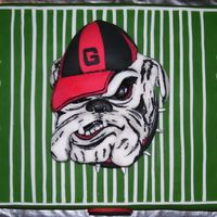 Football Lovers Father's Day Cake/ga Bulldogs