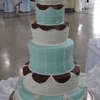 Tall Fondant Wedding Cake