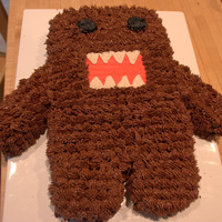 Domo Chocolate cake with chocolate buttercream icing. Made him for my son's 14th birthday.
