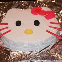 Hello Kitty Cake   This is a cake my husband made for my birthday. Buttercream frosting and fondant bow.