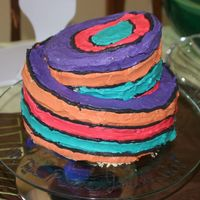 "Oh The Places You'll Go  Supposed to look like the Dr. Seuss ""Oh the Places You'll Go"" book cover. My first attempt at a topsy turvy cake so that..."
