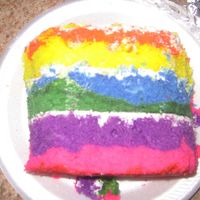 Inside Of The Tie Dyed Cake inside of the tie dyed cake with tie dyed batter!
