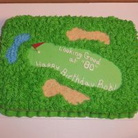 Golf Course Cake This was a last minute cake.......made to look like a golf course for an 80th birthday celebration.