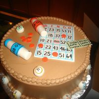 Bingo Fondant accents on choc buttercream