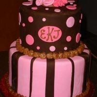 Pink And Brown All fondant